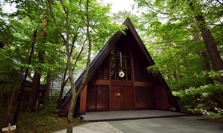 10月初旬の軽井沢高原教会