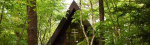 軽井沢高原教会外観ヘッダー